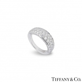 Tiffany & Co. White Gold Pave Diamond Ring